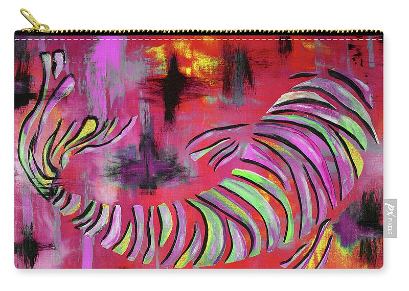 Koi Fish Carry-all Pouch featuring the painting Jewel Of The Orient #2 by Nan Bilden