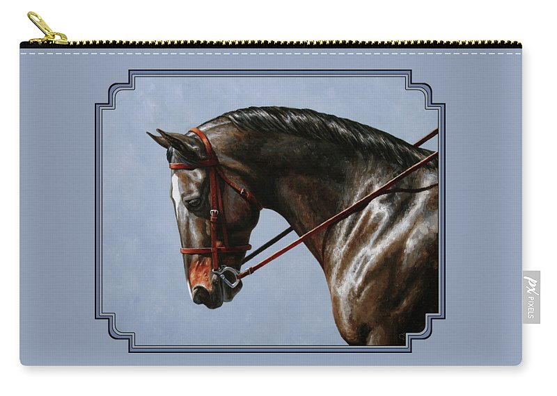 Horse Carry-all Pouch featuring the painting Horse Painting - Discipline by Crista Forest