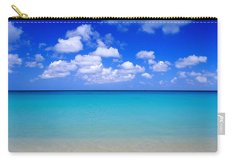 Aruba Carry-all Pouch featuring the photograph Aruba Sky And Sea by Robert Ponzoni