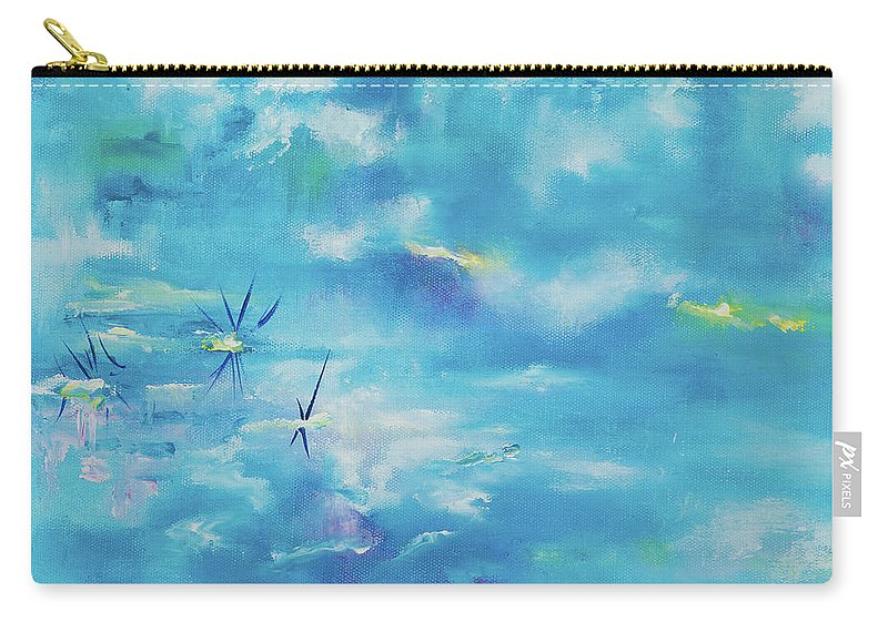 Glass Isle Series Carry-all Pouch featuring the painting As Above So Below by Dechen ART