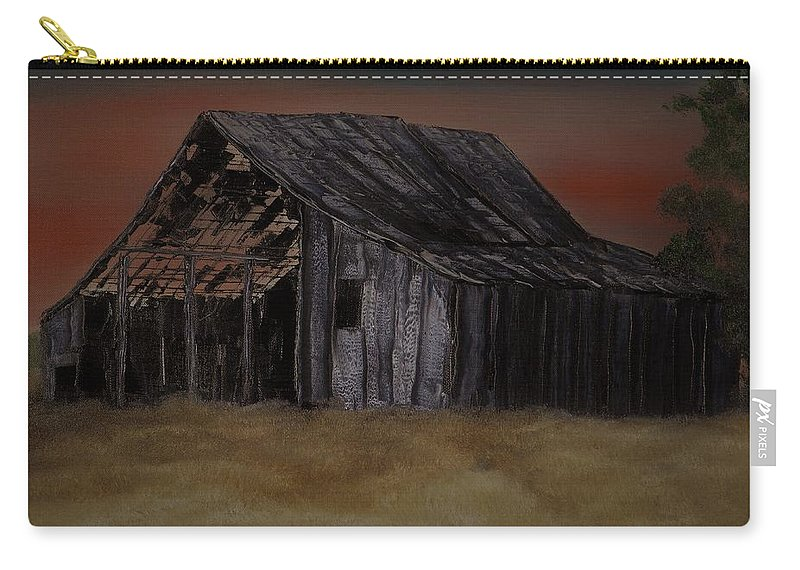 Abandoned Carry-all Pouch featuring the painting As Darkness Falls by Mike Parsons