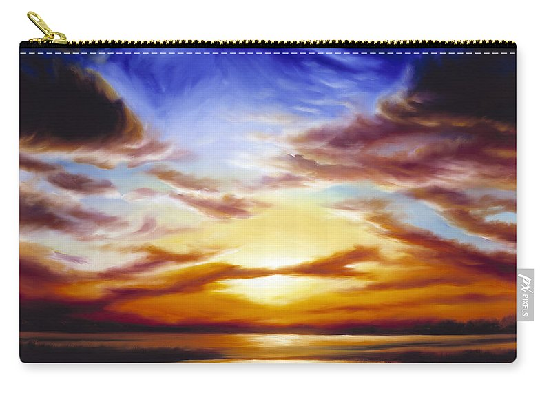 Skyscape Carry-all Pouch featuring the painting As The Sun Sets by James Christopher Hill