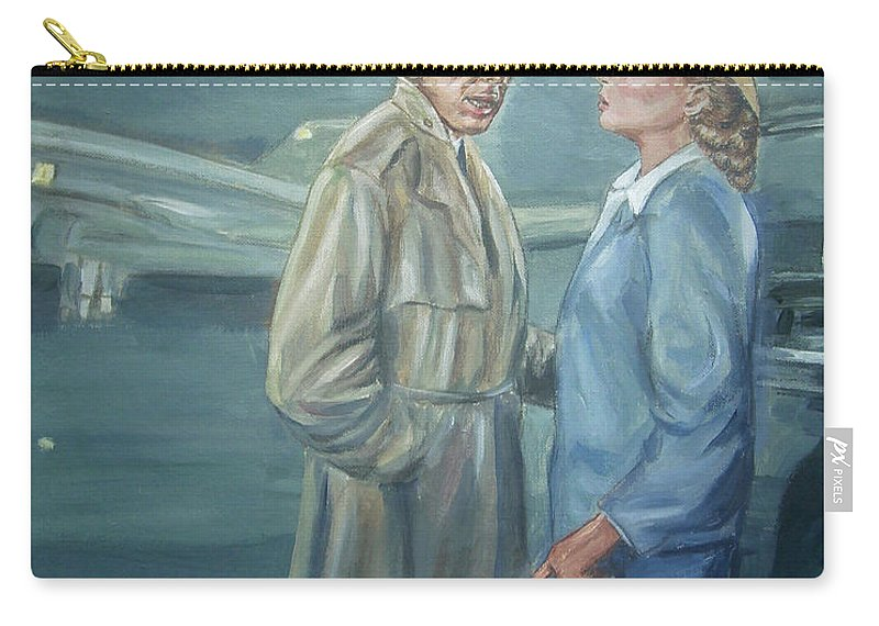 Casablanca Carry-all Pouch featuring the painting As Time Goes By by Bryan Bustard