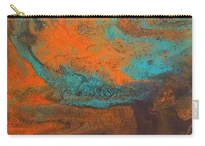 Carry-all Pouch featuring the painting As Water Flows by Barbra Kotovich