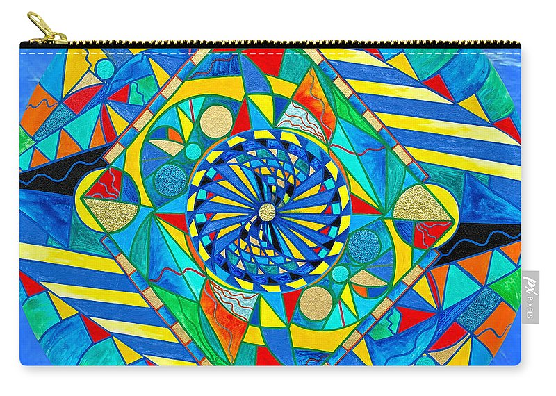 Vibration Carry-all Pouch featuring the painting Ascended Reunion by Teal Eye Print Store