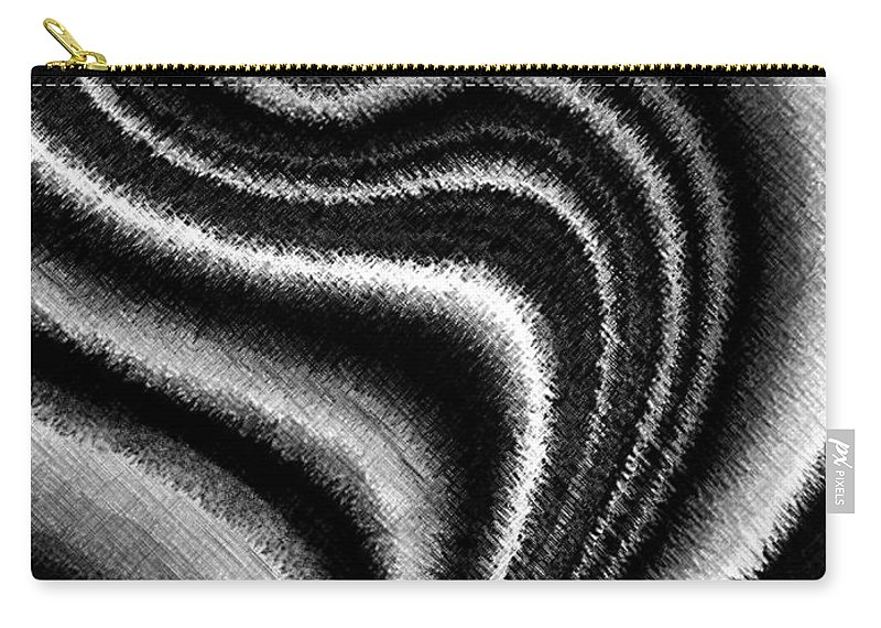 Black & White Carry-all Pouch featuring the digital art Ascending by Will Borden