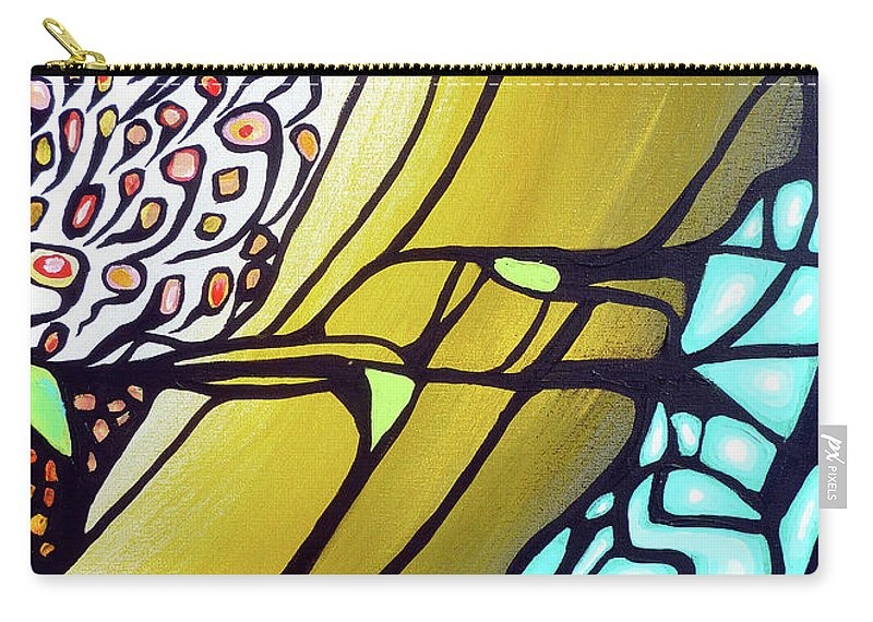 Color Carry-all Pouch featuring the painting Ascension by Larry Calabrese