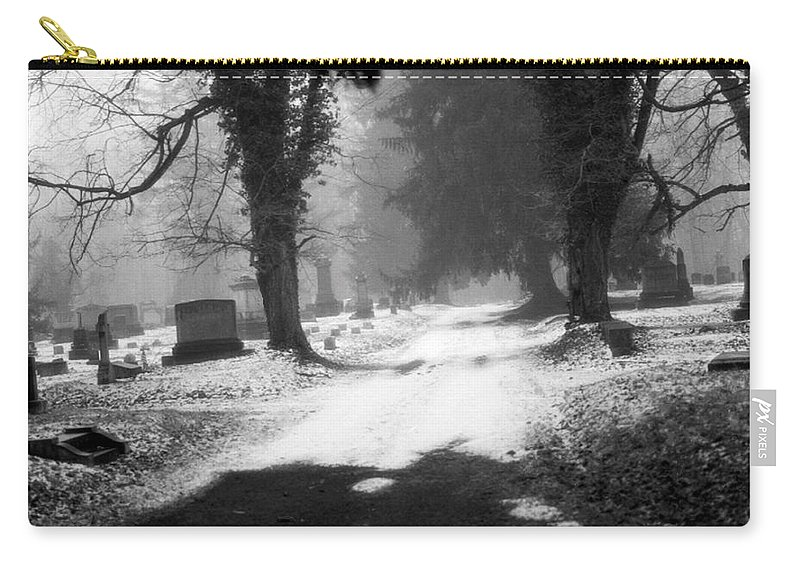 Photograph Carry-all Pouch featuring the photograph Ashland Cemetery by Jean Macaluso
