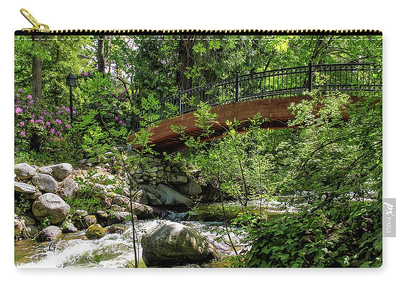 Bridge Carry-all Pouch featuring the photograph Ashland Creek by James Eddy