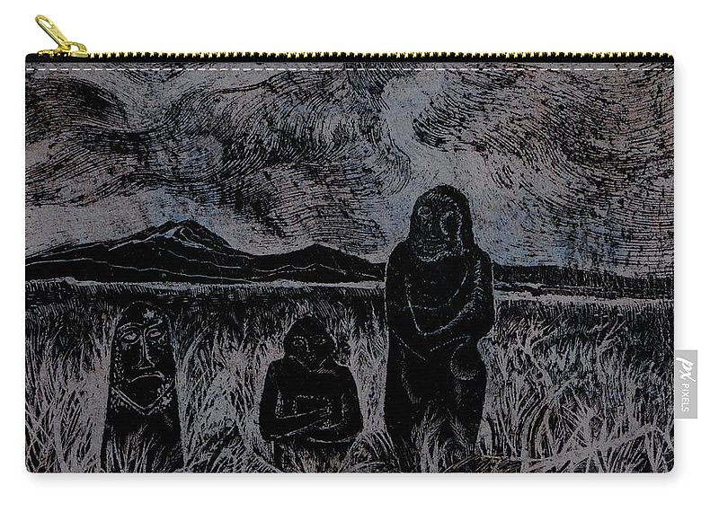 Graphica Carry-all Pouch featuring the drawing Asia.gone With The Wind by Anna Duyunova