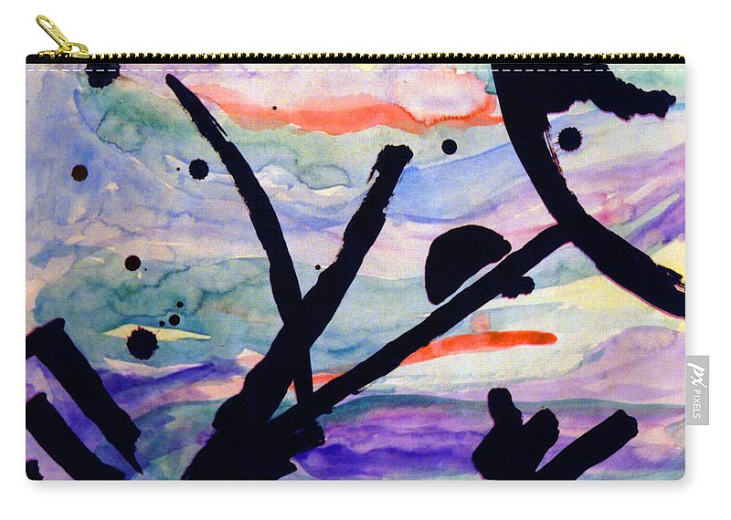 Abstract Carry-all Pouch featuring the painting Asian Impression by Steve Karol