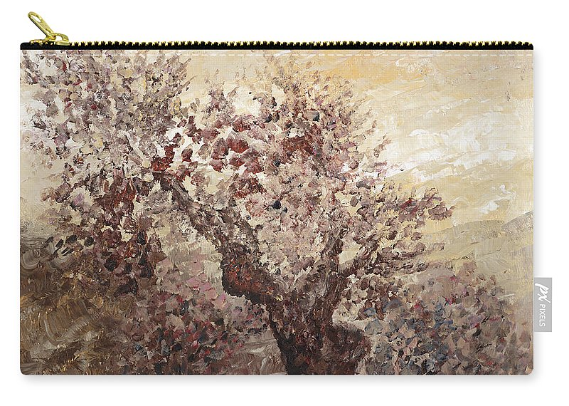 Landscape Carry-all Pouch featuring the painting Asian Mist by Nadine Rippelmeyer