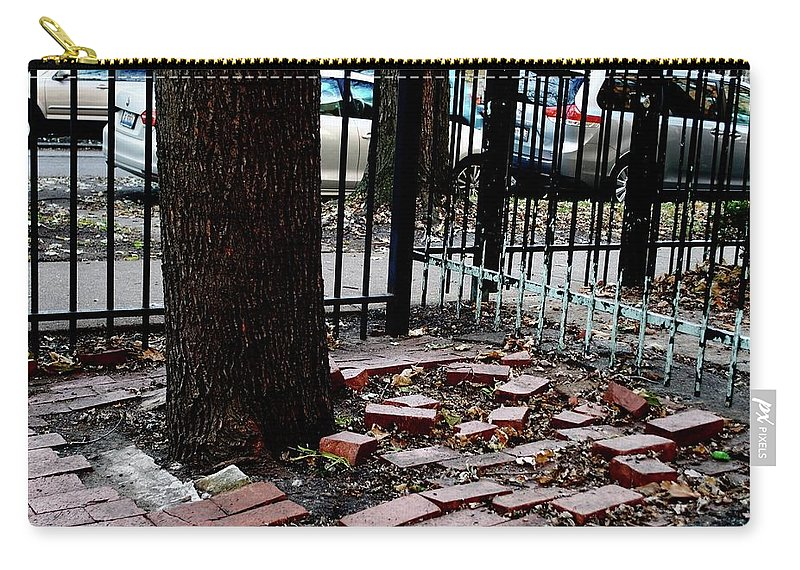 Bricks Carry-all Pouch featuring the photograph Askew by Margaret Fronimos
