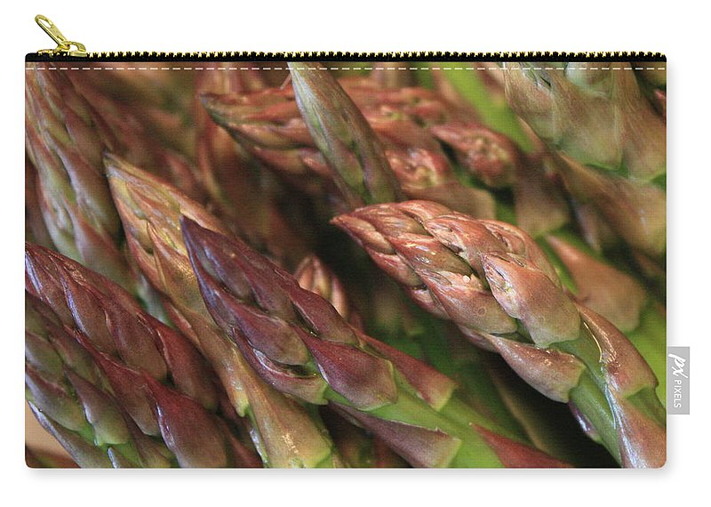 Asparagus Carry-all Pouch featuring the photograph Asparagus Tips by Carol Groenen