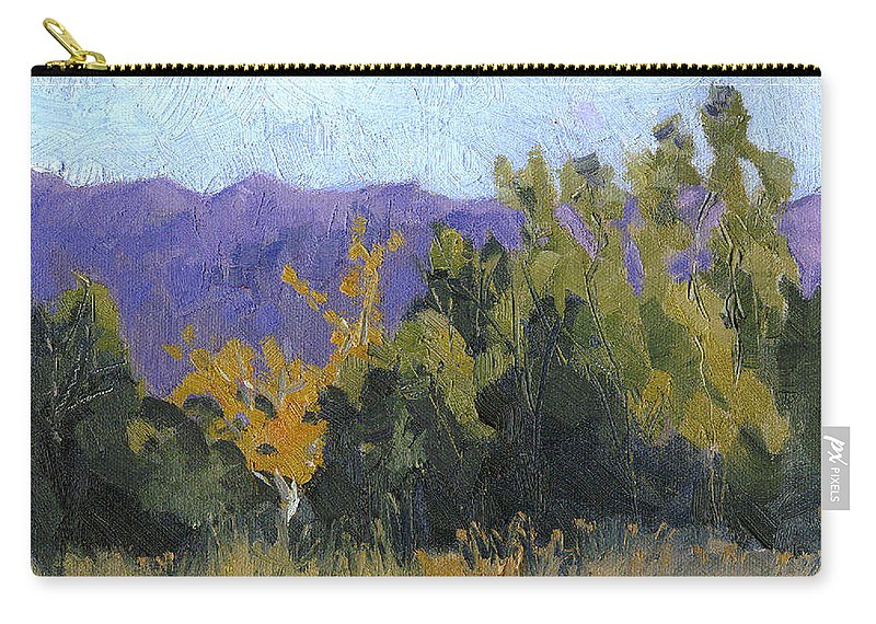 Fall Color Carry-all Pouch featuring the painting Aspen Color by Cindy Carrillo