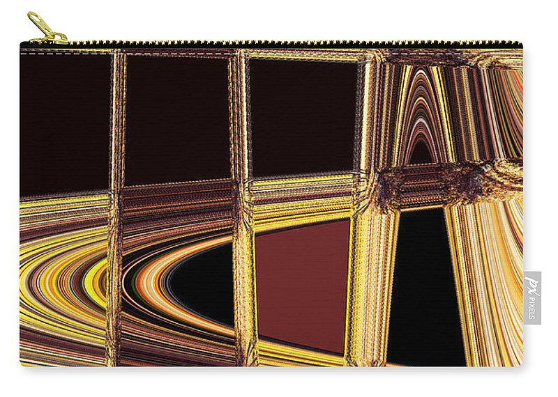 Abstract Carry-all Pouch featuring the photograph Aspen Grove Abstract by Norman Andrus