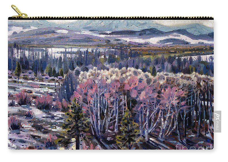 Aspen Carry-all Pouch featuring the painting Aspen In April by Donald Maier