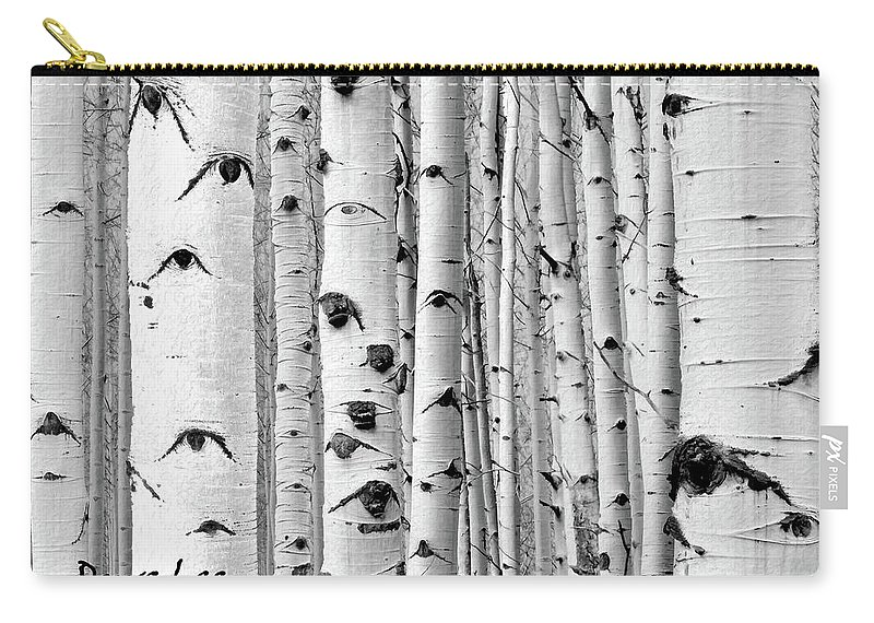 Aspens Carry-all Pouch featuring the mixed media Aspens Near And Far by Dave Lee