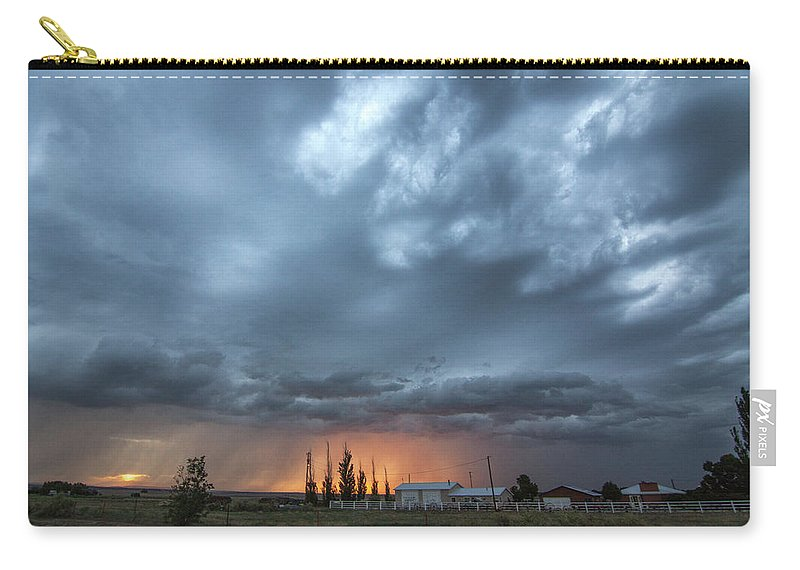 Cloudscape Carry-all Pouch featuring the photograph Asperitas Sunset by Amy M Howard