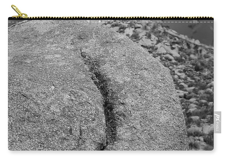 Rock Carry-all Pouch featuring the photograph Ass Crack New Mexico In Black And White by Rob Hans