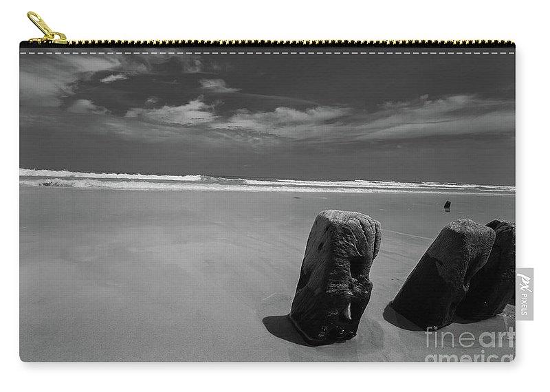 Assateague Island Carry-all Pouch featuring the photograph Assateague Driftwood by Jeffrey Miller