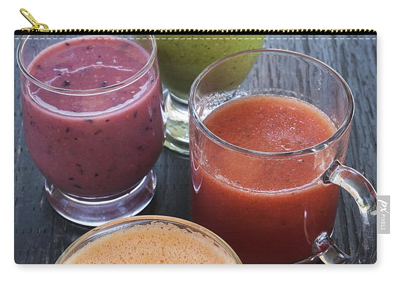 Smoothie Carry-all Pouch featuring the photograph Assorted Smoothies by Elena Elisseeva
