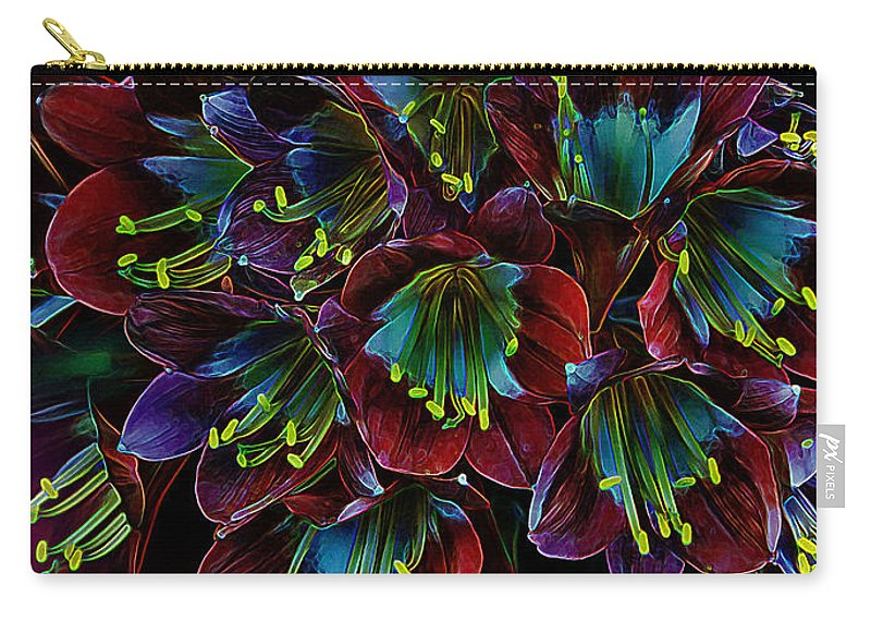 Flowers Carry-all Pouch featuring the photograph Assortment Of Splendor by Bill Tiepelman