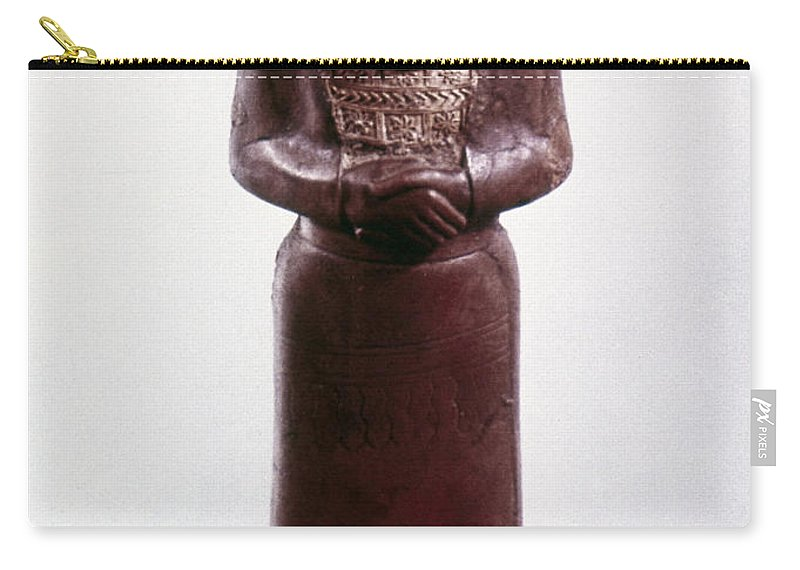 9th Century Bc Carry-all Pouch featuring the photograph Assyrian Statue by Granger