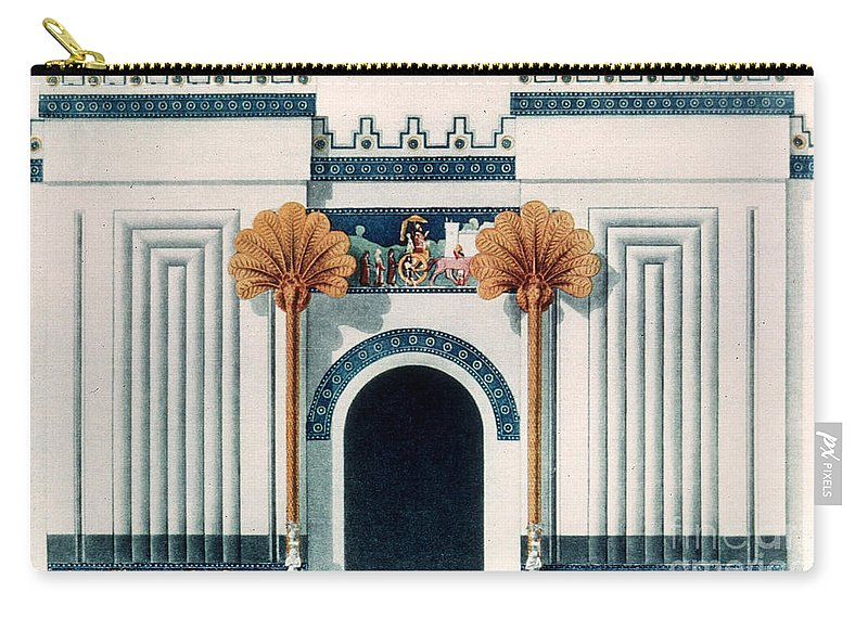 6th Century B.c. Carry-all Pouch featuring the photograph Assyrian Temple by Granger