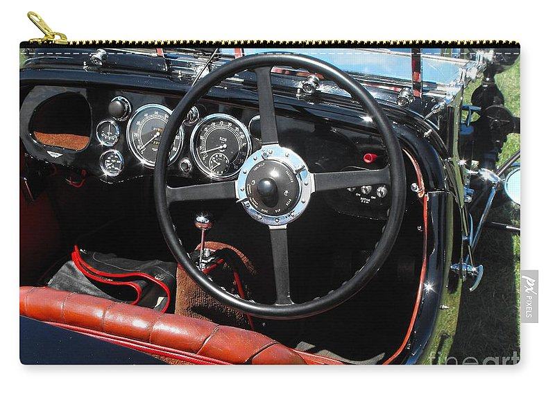 Aston Martin Carry-all Pouch featuring the photograph Aston Martin Dashboard by Neil Zimmerman