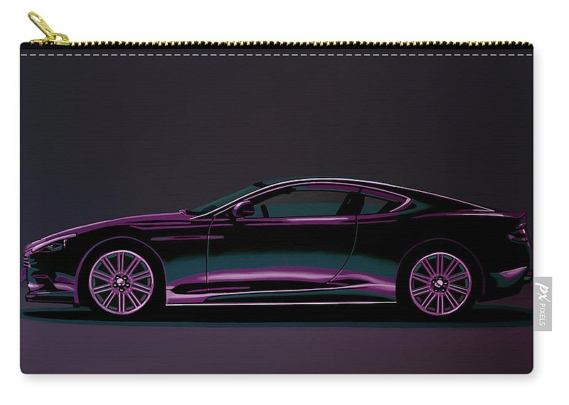 Aston Martin Carry-all Pouch featuring the painting Aston Martin Dbs V12 2007 Painting by Paul Meijering