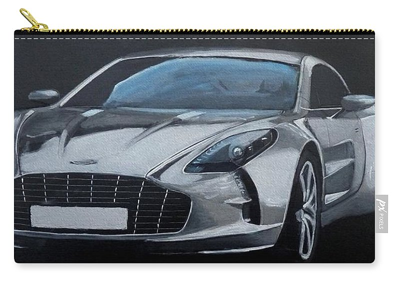 Car Carry-all Pouch featuring the painting Aston Martin One-77 by Richard Le Page