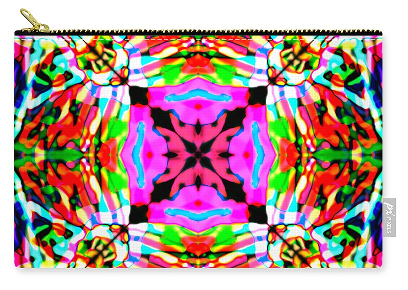 Rose Carry-all Pouch featuring the digital art Astra Rose by Blind Ape Art