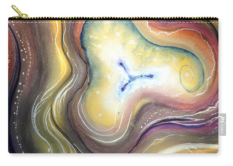 Mind Carry-all Pouch featuring the painting Astral Vision. Mind Concentration by Sofia Metal Queen