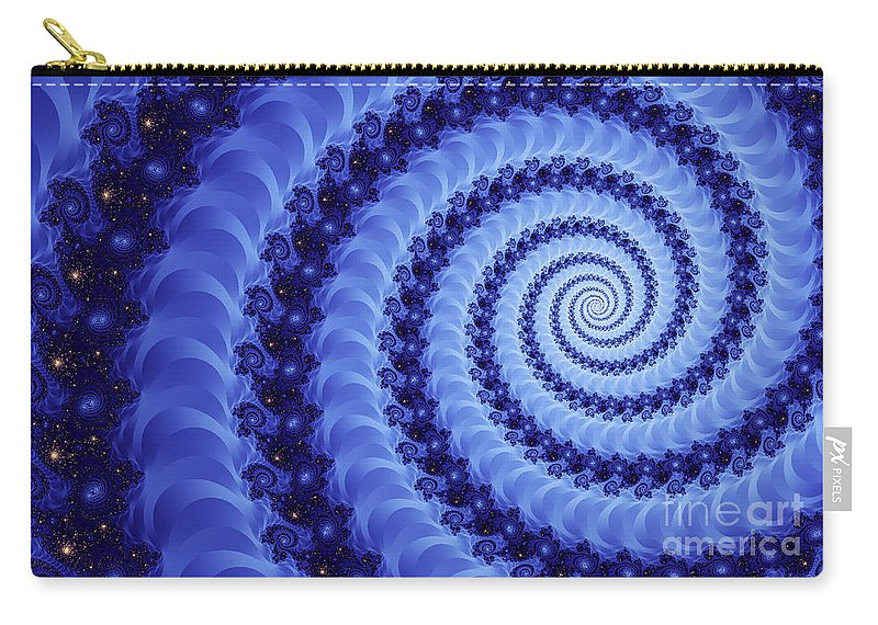 Clay Carry-all Pouch featuring the digital art Astral Vortex by Clayton Bruster