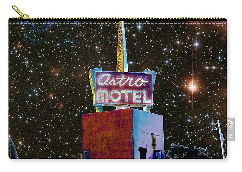 Astro Carry-all Pouch featuring the photograph Astro Motel by Jim And Emily Bush