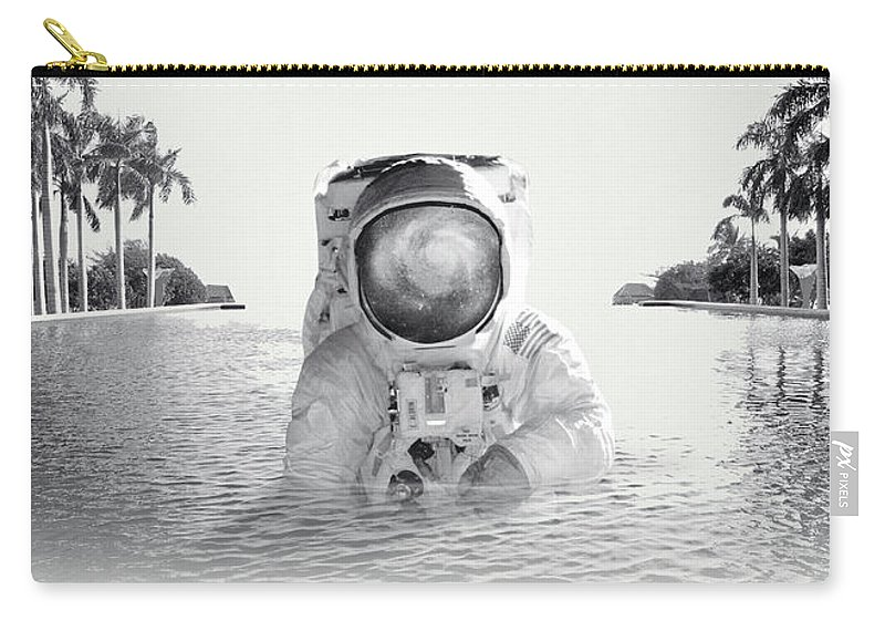 Collage Carry-all Pouch featuring the photograph Astronaut by Fran Rodriguez