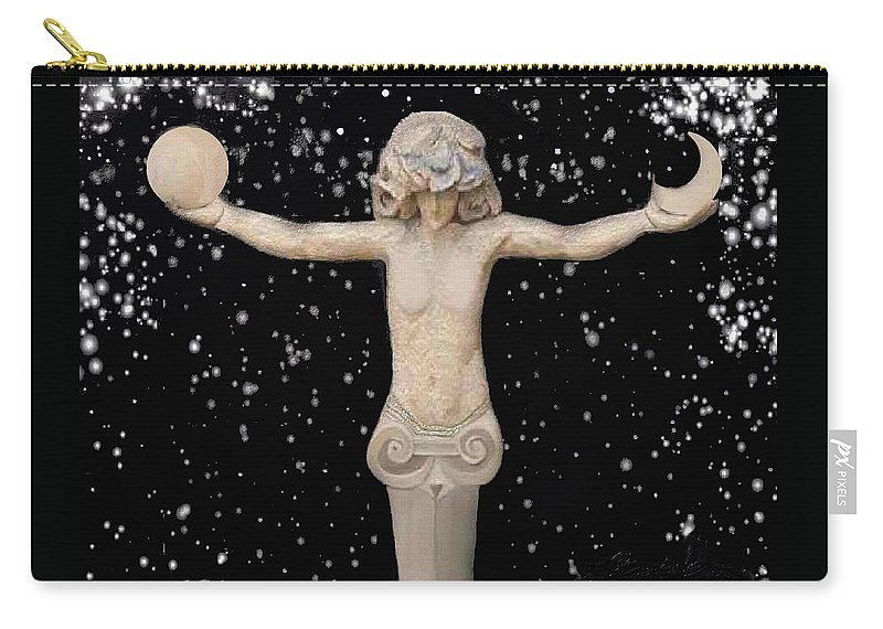 Astronomica Art Space Carry-all Pouch featuring the digital art Astronomica2 by Robert aka Bobby Ray Howle
