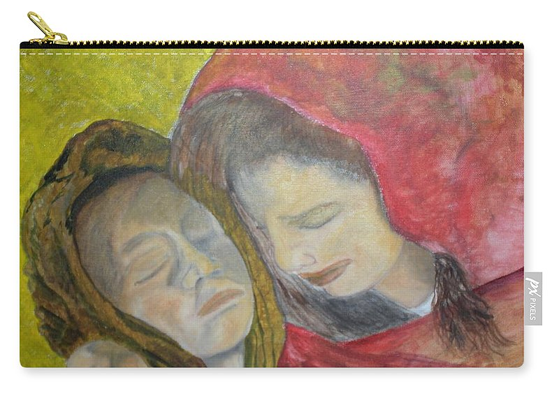 New Artist Carry-all Pouch featuring the painting At Last They Sleep by J Bauer