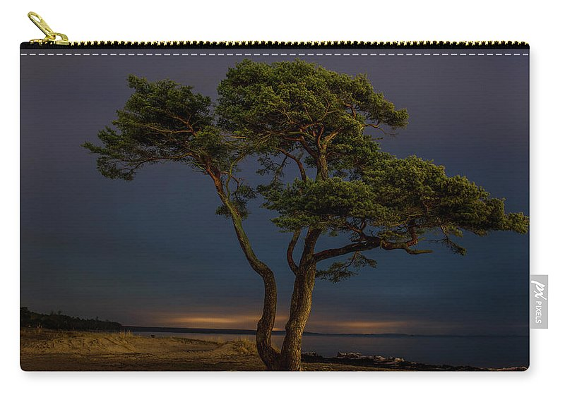 Night Photography Carry-all Pouch featuring the photograph At Night by Jane Svensson