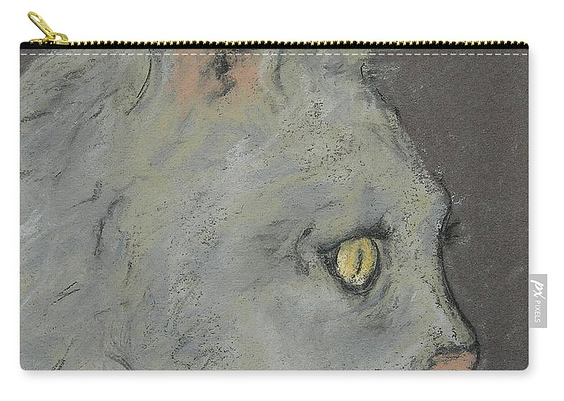 Pastels Carry-all Pouch featuring the drawing At Peace by Cori Solomon