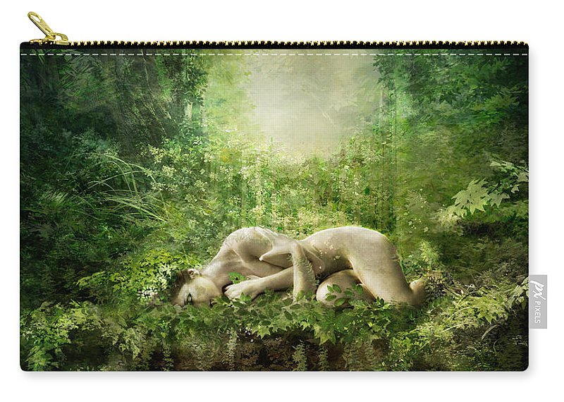 Nature Carry-all Pouch featuring the digital art At Sleep by Karen Koski