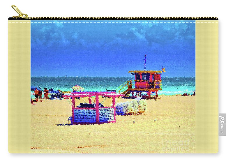 Beach Carry-all Pouch featuring the photograph At The Beach by Jost Houk