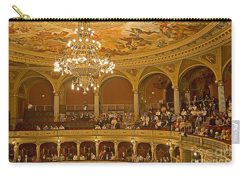 Budapest Opera Carry-all Pouch featuring the photograph At The Budapest Opera by Madeline Ellis