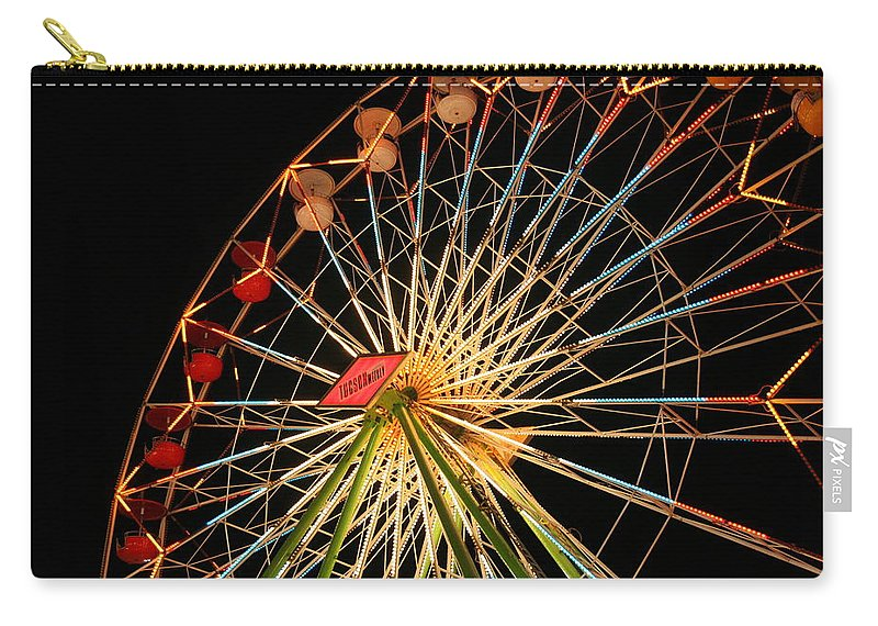 Ferris Wheel Carry-all Pouch featuring the photograph At The County Fair by Joe Kozlowski