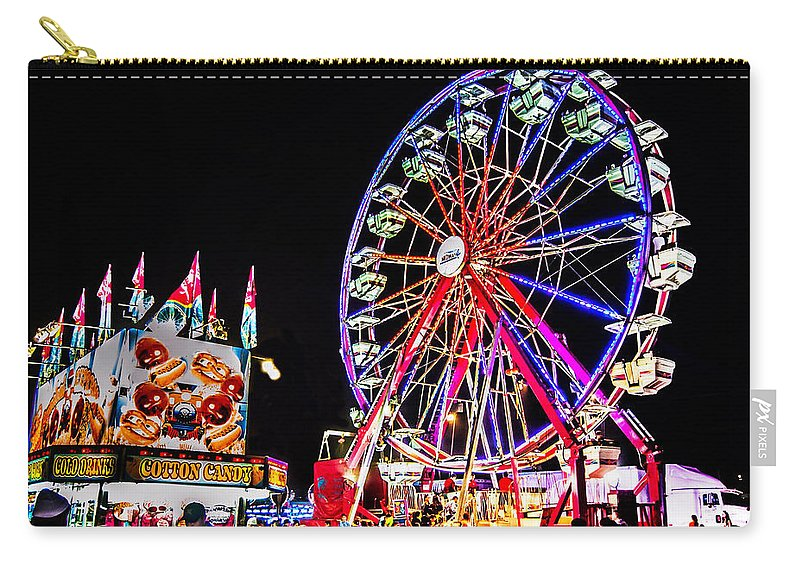 Blue Carry-all Pouch featuring the photograph At The Fair by Leticia Latocki