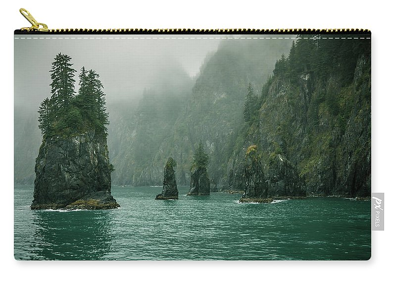 Alaska Carry-all Pouch featuring the photograph Atalik Cape by Catherine Trevor-Roberts