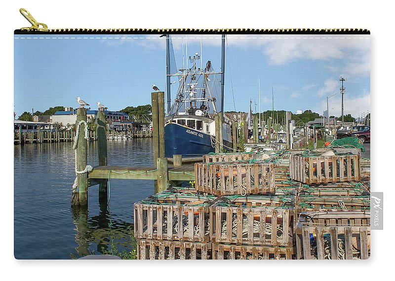 Delaware Carry-all Pouch featuring the mixed media Atlantic Girl by Capt Gerry Hare
