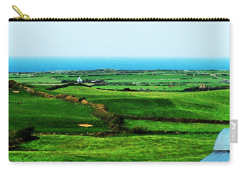 Ireland Carry-all Pouch featuring the photograph Atlantic View Doolin Ireland by Teresa Mucha