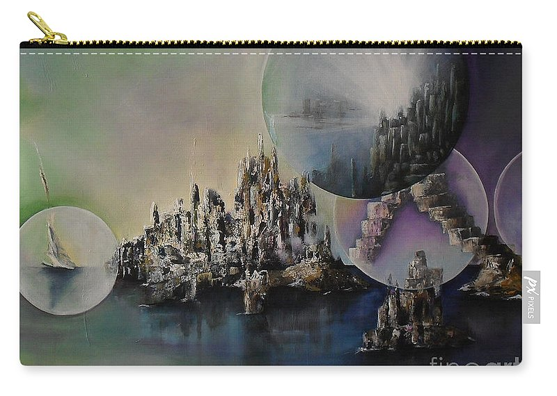 Atlantis Resurrected Carry-all Pouch featuring the painting Atlantis Resurrected by Lia Van Elffenbrinck